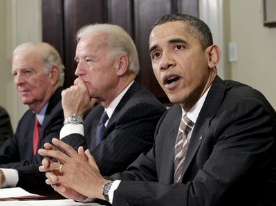 Barack Obama, Joe Biden, James A. Baker