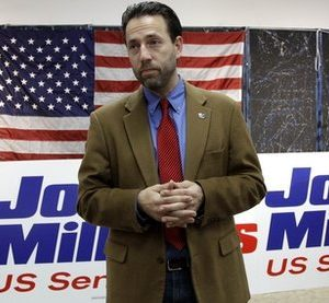 Republican Joe Miller speaks with reporters during a news conference in Juneau, Alaska. Alaska's bitterly contested Senate election went to state court Monday, Nov. 22, 2010, when Miller sued the state over the way write-in ballots for his GOP rival have been counted. (AP Photo/Rick Bowmer)