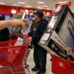 Shoppers pack a Target store (Reuters)
