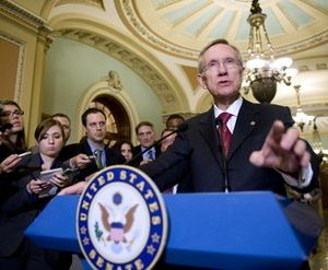 Senate Majority Leader Harry Reid of Nev. speaks at a news conference on Capitol Hill in Washington. Lawmakers, after taking Thanksgiving week off, arrive Monday along with the Capitol Christmas tree for the final leg of the lame duck session to face a daunting agenda. Topping the list are the Bush tax cuts, enacted in 2001 and 2003, and due to expire at the end of the year. (AP Photo/Kevin Wolf)