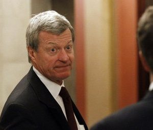 Sen. Max Baucus, D-Mont., enters the Speaker's office for a meeting about tax cuts on Capitol Hill in Washington, Wednesday, Dec. 1, 2010.(AP Photo/Alex Brandon)