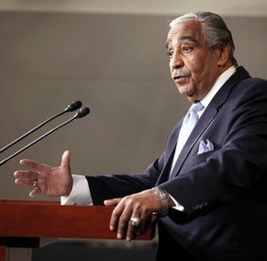Rep. Charles Rangel, D-N.Y., speaks to the media after he was censured by the House, on Capitol Hill in Washington, Thursday, Dec. 2, 2010. (AP Photo/Harry Hamburg)