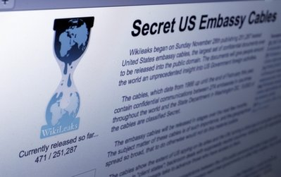 The Internet homepage of Wikileaks is shown in this photo taken in New York,  Wednesday, Dec. 1, 2010. WikiLeaks' release of secret government communications should serve as a warning to the nation's biggest businesses: You're next. (AP Photo/Richard Drew)