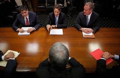Office of Management and Budget Director Jacob Lew, Treasury Secretary Timothy Geithner, Rep. Chris Van Hollen meet with Sen. Jon Kyl Senate Finance Committee Chairman Max Baucus and Rep. Dave Camp to discuss the Bush-era tax cuts (AFP)