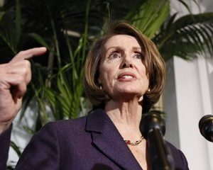 House Speaker Nancy Pelosi, D-Calif., speaks to the media after House democratic caucus meeting on Capitol Hill in Washington, Tuesday, Dec. 7, 2010.(AP Photo/Alex Brandon)