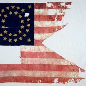 "This photo provided by Sotheby's in New York shows The Culbertson Guidon from the 1876 Battle of the Little Bighorn.  On Friday, Dec. 10. 2010, the swallow-tailed 7th U.S. Cavalry flag, known as a ""guidon,"" is expected to bring up to $5 million at an auction at Sotheby's in New York. (AP Photo/Sotheby's, File)"