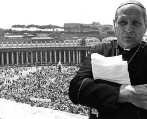 """This 1982  file photo shows US Archbishop Paul C. Marcinkus, a former head of the Vatican Bank. Behind the centuries-old facade of the Institute for Religious Works _ better known as Vatican Bank _ is a history of secrecy and scandal. Italian investigators were able to move against Vatican Bank as the Bank of Italy classifies it as a foreign financial institution operating in Italy. However, in one of the 1980s scandals involving the death of bankers, prosecutors were unable to arrest then bank head Paul Marcinkus, an American archbishop, because  Italy's highest court ruled he had immunity. Marcinkus, who died in 2006 and always proclaimed his innocence, was the inspiration for Francis Ford Coppola's character Archbishop Gilday in """"Godfather III."""" (AP Photo)"""