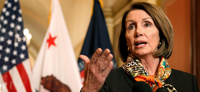 Pelosi Discusses Health Care Reform Legislation With Media