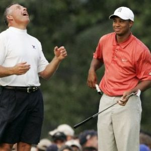 Steve Woods and Tiger Woods