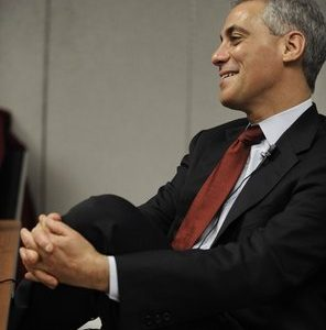 Rahm Emanuel testifies before the Chicago Board of Election Commissioners during a hearing challenging his residency to run as Mayor in Chicago, Tuesday, Dec. 14, 2010. (AP Photo/Paul Beaty)
