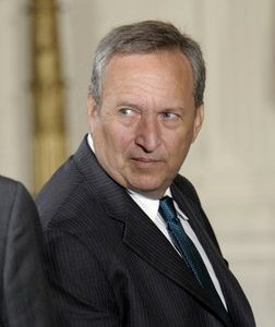In this Oct, 1, 2010 file photo-outgoing National Economic Council Director Lawrence Summers is seen in the East Room of the White House in Washington. Among the first announcements President Barack Obama will make upon returning from his Hawaiian vacation is his choice for director of the National Economic Council, widely regarded as the president's top economist. (AP Photo/Susan Walsh, File)