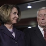 Outgoing House Speaker Nancy Pelosi of Calif., left, and outgoing House Majority Leader Steny Hoyer of Md.,  take part in a news conference on Capitol Hill in Washington, Tuesday, Jan. 4, 2011. (AP Photo/Charles Dharapak)