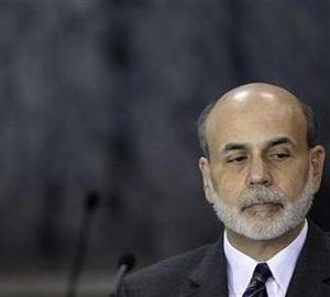 Federal Reserve Chairman Ben Bernanke is pictured at the financial stability oversight council (FSOC) meeting at the Treasury Department in Washington, November 23, 2010.  REUTERS/Jason Reed
