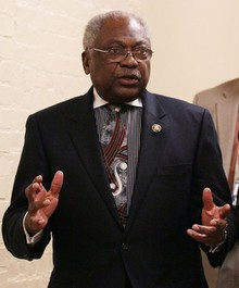 U.S. Rep. James Clyburn (D-SC) walks toward a House Democrat caucus meeting on January 4, 2011 in Washington, DC. The new 112th Congress is due to be sworn in on January 5, with the House being lead by House Speaker elect John Boehner (R-OH). U.S. President Barack Obama's Healthcare reforms are expected to be a target for the Republicans, who now dominate the new House of Representatives and with Democrats maintaining a small majority in the Senate.  (Photo by Mark Wilson/Getty Images)