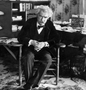 In this undated photo, author Mark Twain, born Samuel Clemen, is shown.  (AP Photo, file)