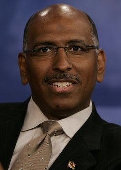 Former Maryland Lt. Gov. Michael Steele answers a question during a debate in Arlington, Va., in this Oct. 25, 2006 file photo. Steele is fighting for survival atop the Republican National Committee. He's trying to hold off four challengers accusing him of financial mismanagement and poor stewardship during his rocky two-year tenure. The committee's 168 members are to vote Friday Jan. 14, 2011.  (AP Photo/Chris Gardner, File)