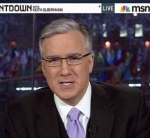 "This frame grab from MSNBC video, shows Keith Olbermann on ""Countdown"" on Jan. 21, 2011. Olbermann returned from one last commercial break on ""Countdown"" to tell viewers it was his last broadcast, and read a James Thurber short story in a three-minute exit statement. Simultaneously, MSNBC e-mailed a statement that ""MSNBC and Keith Olbermann have ended their contract."" The network thanked him and said, ""we wish him well in his future endeavors."" Neither MSNBC President Phil Griffin, Olbermann nor his manager responded to requests to explain an exit so abrupt that Olbermann's face was still being featured on an MSNBC promotional ad 30 minutes after he had said goodbye. (AP Photo/MSNBC)"