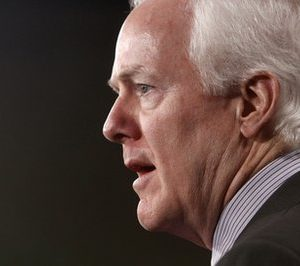 Sen. John Cornyn, R-Texas, speaks about health care at the Capitol in Washington, Wednesday, Feb. 2, 2011. A Republican drive to repeal the year-old health care law ended in party-line defeat in the Senate on Wednesday, leaving the Supreme Court to render a final, unpredictable verdict on an issue steeped in political and constitutional controversy. (AP Photo/Jacquelyn Martin)