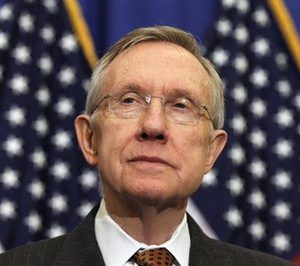 Senate Majority Leader Harry Reid  of Nev. is seen during a news conference on Capitol Hill in Washington, Thursday, Feb. 3, 2011, to disucss deficit reduction. (AP Photo/Alex Brandon)