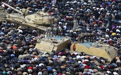 Mubarak steps down; Military takes control of Egypt