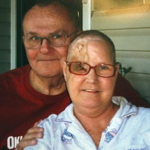 "In this photo provided by Bob Niles, Bob Niles is pictured with his wife Karen Niles, right, following one of her surgeries.  The brain tumor came back. An ugly mass growing in plain view threatened Karen Niles' remaining eye. She needed more surgery. This time, however, her medical plan wouldn't pay. It sounds like one of those insurance ""horror stories"" that President Barack Obama hammered home during the fierce debate to pass his health care overhaul. Except Niles' plan ended up as the beneficiary of a rare exemption to the new law _ a waiver highlighted in the plan's promotional materials. The plan didn't come from an insurer, but from a religious ""health care sharing ministry."" Consumer advocates call them a gamble. (AP Photo/Bob Niles Family Photo)"