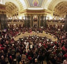 Wisconsin Senate strips state workers of union rights