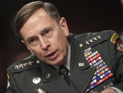 Gen. David Petraeus, commander of U.S. and NATO forces in Afghanistan, testifies on Capitol Hill in Washington, Tuesday, March 15, 2011, before the Senate Armed Services Committee hearing on the situation in Afghanistan.  (AP Photo)