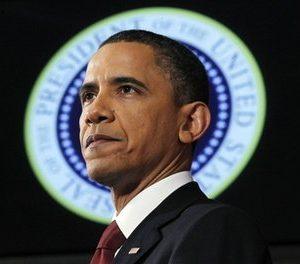 President Barack Obama speaks about Libya at the National Defense University in Washington, Monday, March 28, 2011. (AP Photo/Charles Dharapak)
