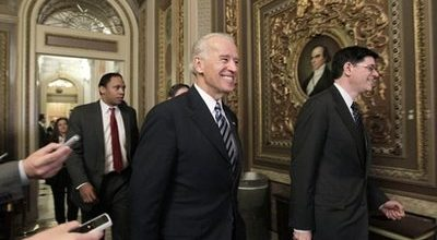 Biden claims budget progress