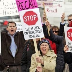 Protests against Wisconsin Gov. Scott Walker