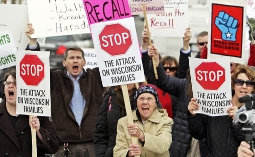 Protests against Wisconsin Gov. Scott Walker
