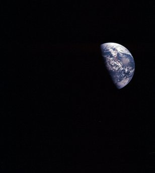 """This Dec. 1968 image taken during the Apollo VIII mission and released by NASA shows the planet Earth. If Earth overheats, can it be artificially cooled? Should the effort begin now? Who would decide? The very idea of """"geoengineering,"""" and the unknown risks of tweaking our climate, left many participants in a March 2011 conference of international experts in Chicheley, England uneasy. (AP Photo/Courtesy of Earth Sciences and Image Analysis Laboratory, NASA Johnson Space Center)"""