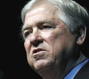 Mississippi Gov. Haley Barbour speaks in Jackson, Miss. Barbour says he won't be a presidential candidate for 2012. (AP Photo/Rogelio V. Solis, File)