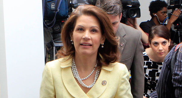 Bachmann compares nation's economic woes to Halocaust