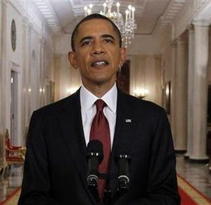 President Barack Obama announces bin Laden's death (REUTERS/Jason Reed)