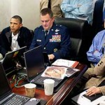 President Obama and his national security team watch the raid on bin Laden's hideout (White House photo)
