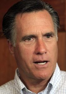 Possible 2012 presidential hopeful, former Republican Gov. Mitt Romney of Massachusetts talks with reporters after meeting with area business leaders, Tuesday, May 3, 2011, in Nashua, N.H. (AP Photo/Jim Cole)