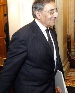 CIA Director Leon Panetta leaves after briefing members of Congress on Capitol Hill Tuesday, May 3, 2011, in Washington.(AP Photo/Alex Brandon)