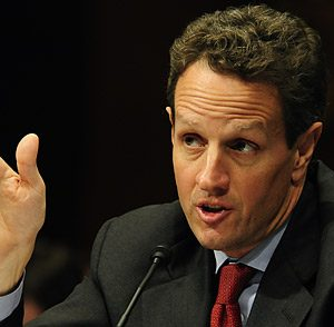 Treasury Government Tim Geithner