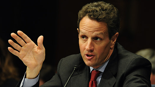 Treasury Government Tim Geithner