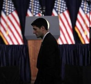 Congressman Paul Ryan: Oh, how the mighty have fallen (REUTERS/Kevin Lamarque)