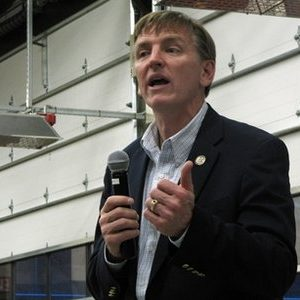 """In this photo taken May 18, 2011, photo freshman Republican Rep. Paul Gosar, R-Ariz., speaks at a town hall meeting in Tusayan, Ariz.  """"Did your own personal health care (concerns) get heard?"""" Gosar asked about 40 people gathered there to hear him. """"No,"""" came the answer. Six months into their jobs, the newcomers are acclimating to their roles, to Congress, to their constituents and to the reality that the 2012 election, when every House member is on the ballot, is under way. (AP Photo/Felicia Fonseca)"""