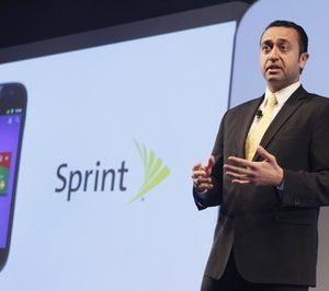 "Sprint Vice President of Product Development Fared Adib speaks during a news conference, Thursday, May 26, 2011 in New York.  Google wants the smartphone to be the wallet of the future, a container for digital credit cards, coupons, receipts and loyalty cards that can be ""tapped"" to terminals in stores.  (AP Photo/Mary Altaffer)"