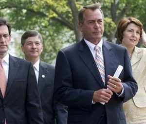 Speaker of the House John Boehner and other GOP leaders (AFP/Saul Loeb)