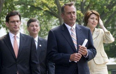 Speaker of the House John Boehner and other GOP leaders (AFP/Saul Loeb)