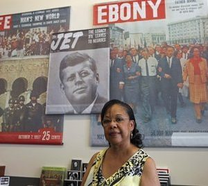 In this photo taken Wednesday, June 8, 2011, retired teacher Shirley Tate of Gibsonville is seen in the gift shop of the International Civil Rights Center and Museum where she works in Greensboro, N.C. Three years ago during Barack Obama race for the White House Tate campaigned for him, knocking on doors and making phone calls. (AP Photo/Gerry Broome)
