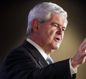 Republican presidential hopeful, former House Speaker Newt Gingrich speaks at the Republican Leadership Conference in New Orleans, Thursday, June 16, 2011. (AP Photo/Patrick Semansky)