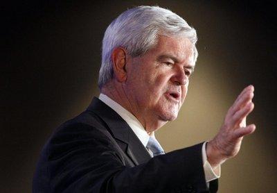 Republican presidential hopeful, former House Speaker Newt Gingrich speaks at the Republican Leadership Conference in New Orleans, Thursday, June 16, 2011. (AP Photo/Patrick Semansky)