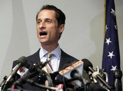 'Bye bye pervert' salutes Weiner's resignation