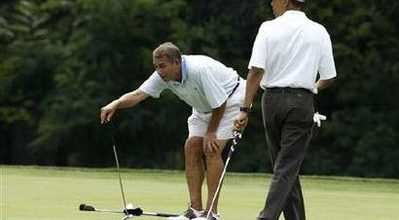 Obama, Boehner find triumph on the golf course